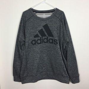 Men's XL Adidas Climawarm Gray Black Logo Sweater